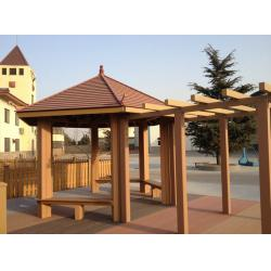 China Waterproof WPC Construction , Weather-resist WPC Pergola For Outdoor Construction on sale