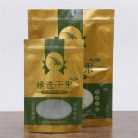 Dried Fruits / Rasin Food Grade Packaging Bags Stand Up Ziplock Bags With Clear Window