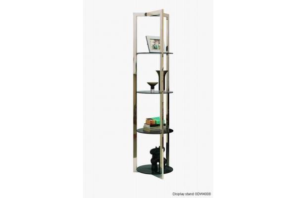 Estante para libros de cristal moderno estante de cristal for Muebles esquina para salon