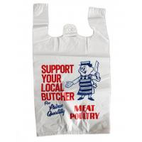 Printed Plastic  Shopping Bags With Handles , Recycled Biodegradable Shopping Bags
