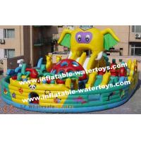 CE Certificated Animal Elephant 0.55mm PVC Tarpaulin Inflatable Fun City Amusement Playground for Commercial Use