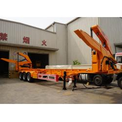 China CIMC semi trailer side loader auto charguese conteneur transporting with mobile cranes side lifter trailer on sale