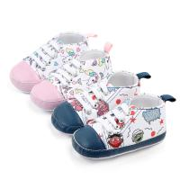 Wholesale Cheap Cotton shoes Cartoon print prewalker boy and girl baby shoes toddler