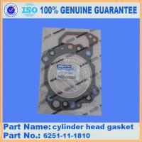 komatsu PC450-8 cylinder head gasket 6251-11-1810,SAA6D125 engine