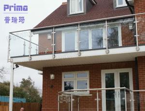 Plexiglass Balcony Railing Design With Stainless Steel