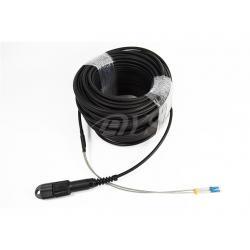 China Black Waterproof ODLC / PDLC Fiber Optic Patch Cord , High shock on sale