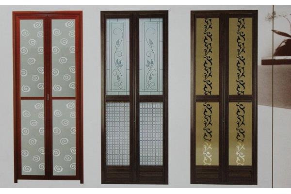 Puertas De Baño Aluminio:polvo de grosor de perfil de 1,0 mm recubiertos puertas bifold de
