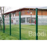Strong Plastic Wire Mesh Fence Curved Welded Panel High Strength With Square Post