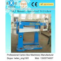 Recycled Waste Paper Carton Making Machine , Carton Stapler With Brisk Movement