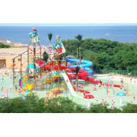 Fiberglass Aqua Playground Equipment Big Water House For Family Fun Custom