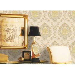 China Mulit Color Velvet Flock Wallpaper Strippable With 1.06*10M Size , Non - Pasted Style on sale