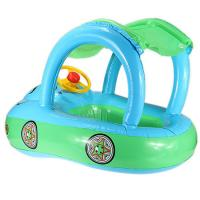 Inflatable Baby Float Seat Boat Tube Ring Car Sun shade Water Swimming Pool Portable