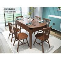 Custom Rectangular Solid Wood Table , Extendable Dining Table With Chairs