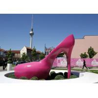 Pink Heels Stainless Steel Sculpture Art Painted Corrosion Resistant Urban Sculpture
