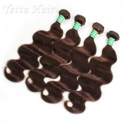 China Dark Brown Wavy  Real 7A Virgin Hair Extensions Hair No Chemical on sale