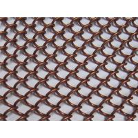 Bronze Color Metal Coil Drapery , Hanging Wire Mesh Room Dividers For Ceiling