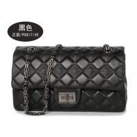 Sheepskin Womens Shoulder Handbags , Single Shoulder Chain Bag With Rhombus Embossed