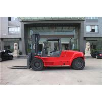 10 ton container fork lift truck / diesel forklift with fork positioner