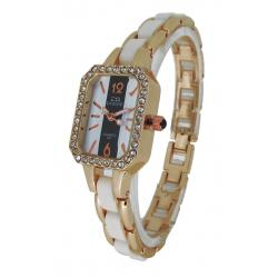 China OEM Slim Ladies Bracelet Watches with Crystal Square Sharp Case on sale