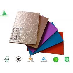 China 2016 new design home decor kitchen cabinet aluminium foil laminated mdf board on sale