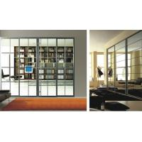 Luxury Living Room Divider With Glass, Modern Aluminum Profile For Heavy Duty Sliding Door