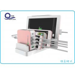 China 40W 8A USB Desktop Charging Station with 5 Ports Type C Hub , Multi Device Charging Station on sale