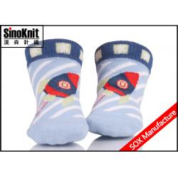 China Anti-slip Tube Blue Boy Trendy Design Newborn Baby Socks Cotton Comfortable and Healthy on sale