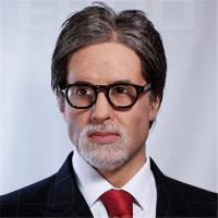 Amitabh Bachchan Life Size Celebrity Wax Statues Fiberglass / Silicone Material
