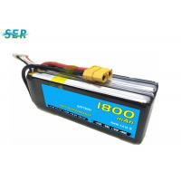 Rechargeable RC Car Battery 35C 14.8V 1800mAh Li Polymer For Mini Helicopter / Airplane