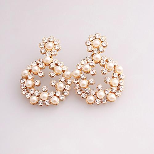 Big Fashion Earrings For Women China Korea Fashion Big White