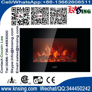 China Fire flame Flat Tempered Glass Wall Mounted Electric Fireplace Heater EF420S Log Chimenea EF420SK/EF420SL ROOM HEATER supplier