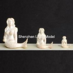 China fake mermaid sculptures,plastic model sculpture,doll house decoration,model accessories on sale