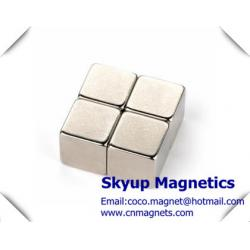 China Cube permanent Neodymium Strong Magnets used in Electronics and small motors ,with ISO/TS certification on sale