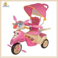 Pink Baby 3 In 1 Smart Trike With Canopy , Lovely Tricycles For 2 Year Olds