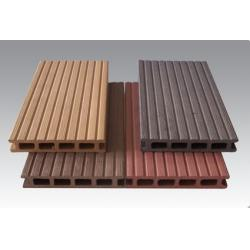 China Wood Plastic Composite Outside Round And Square Circular Hollow Wpc Decks on sale