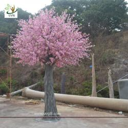 China UVG CHR140 china event supplier home decoration pink peach blossom fake trees for weddings on sale