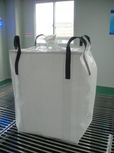 Circular / Tubular 1 ton bulk bags , Type A square bottom Soybean peanut bag storage bags