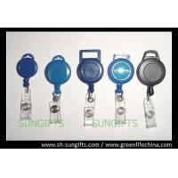 Solid plastic cable badge reel for lanyard attaching, ID badge reel with header hanging