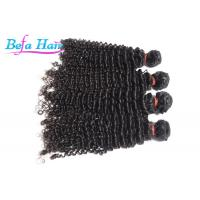 Smooth Kinky Curly Grade 7A Virgin Hair , Red / Blonde Brazilian Human Hair Wefts
