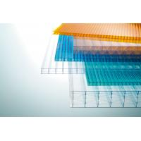 Multi Color Corrugated Polycarbonate Roofing Sheets Weather And UV Resistant