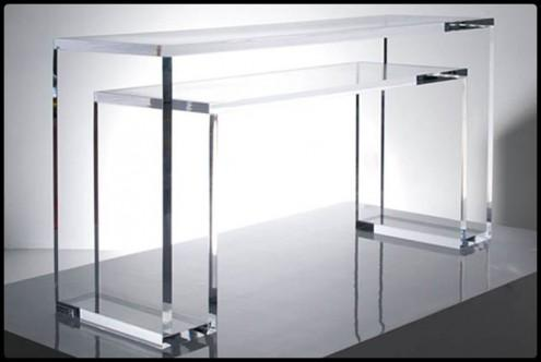 Acrylic coffee table rectangle plexiglass console table for Plexiglas tisch design