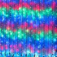 Multi Coloured LED Cascading Waterfall Curtain Light