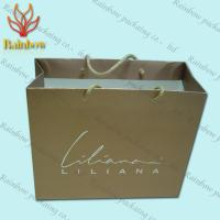 Recycled Kraft Customized Paper Bags With Handles For Shopping
