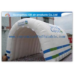 China Customizable White Inflatable Portable Spray Booth Tent Quadruple Sewing With Printing on sale