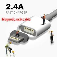 Super Fast 2.4A Magnetic USB Data Cable For Iphone Samsung Android