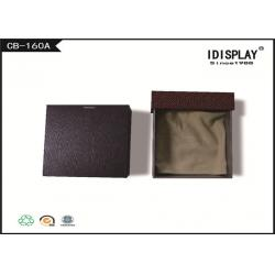 China Brown Drawer Luxury Jewelry Gift Boxes Cardboard With Cloth Pad on sale