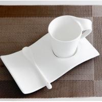 Certifiction SGS/CE/ROHS 3511 bone china coffee saucercoffee heating plate ash more than 45% hot plates for coffee k mug
