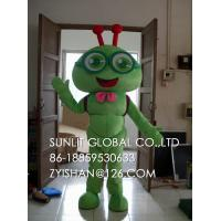 green ant boy mascot costume/customized fur insect mascot costume