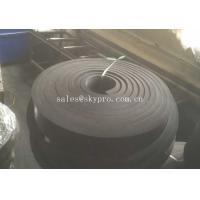 Black Rubber Sheet Non Asbestos skirtboard rubber Natural Sponge , 1mm-100mm Width