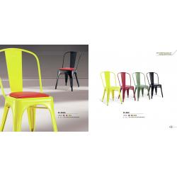 China Outdoor Metal Marais Cushion Chair Steel Cafe Chair Furniture On Sale